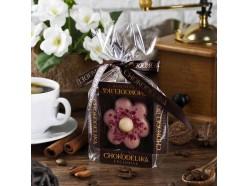 Цветок марципановый в малиновом шоколаде, 30 г
