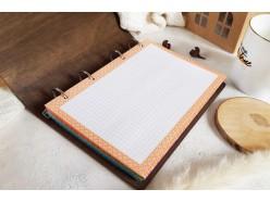 """Ежедневник в деревянной обложке """"Счастье в каждой минуте"""""""