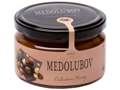 Крем-мёд Медолюбов фундук с шоколадом 250мл