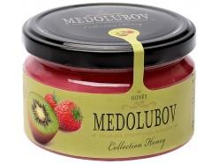 Крем-мёд Медолюбов киви с клубникой 100мл, , 6.00 руб., MD-007, , Сладости из мёда