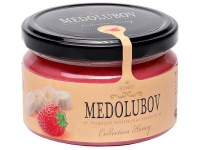 Крем-мёд Медолюбов клубника и банан 250мл