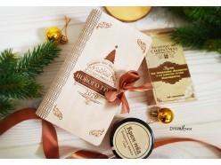"""Новогодняя """"Книга-шкатулка"""" из дерева"""