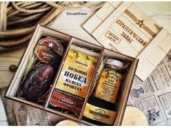 """Подарочный набор """"Стратегический запас """" в деревянной коробке (расширенная версия), , 75.00 руб., pn255, , Подарки на 23 февраля"""