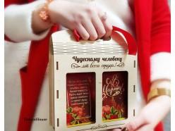 """Подарочный набор в деревянной сумочке """"Чудесной"""""""