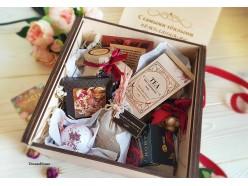 """Подарочный набор в деревянной коробочке """"С тёплыми пожеланиями"""", , 85.00 руб., pn262, , Эксклюзивные подарки"""