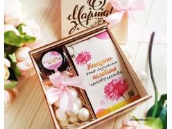 """Подарочный набор в деревянной коробочке """"Весна"""""""