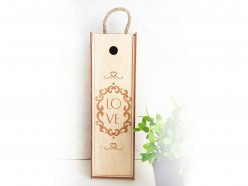 "Деревянный ящик для вина ""LOVE"", , 20.00 руб., pn318, , Подарки на свадьбу"