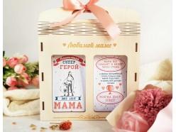 """Подарочный набор в деревянной сумочке """"Мама-герой"""", , 27.00 руб., pn337, , Подарки для мамы"""