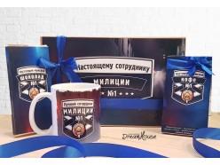 "Подарочный набор ""Настоящему сотруднику милиции"", , 43.00 руб., pn71, , Подарки для мужчин"